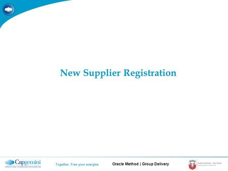Oracle Method | Group Delivery Together. Free your energies New Supplier Registration.