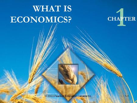 WHAT IS ECONOMICS? 1 CHAPTER © 2003 Pearson Education Canada Inc.1-1.
