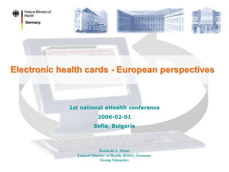 Electronic health cards - European perspectives