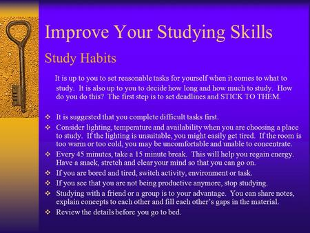 Improve Your Studying Skills