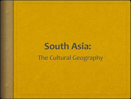 The Cultural Geography