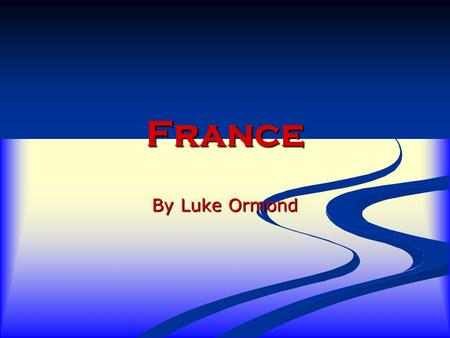 France By Luke Ormond. Facts France's capital is Paris. F France is a great country for food. T The Eiffel Tower is a famous tourist attraction in Paris.
