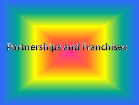 Objectives/Standards Compare and contrast different types of partnerships Analyze the advantages of partnerships Analyze the disadvantages of partnerships.
