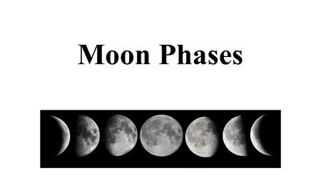 Moon Phases Barbara Gage PSC 1210 Prince George's Community College