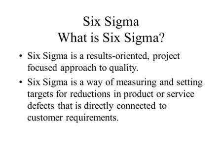 Welcome to Lean Six Sigma Green Belt Training - ppt video