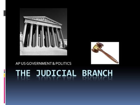 AP US GOVERNMENT & POLITICS. Introduction: Constitution provides for a Supreme Court of the United States Chief Justice John Marshall (serving 1801-1835)