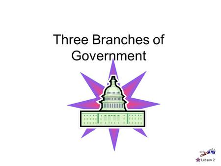 Three Branches of Government Lesson 2. The Executive Branch The President of the United States is the leader of the executive branch. The President's.