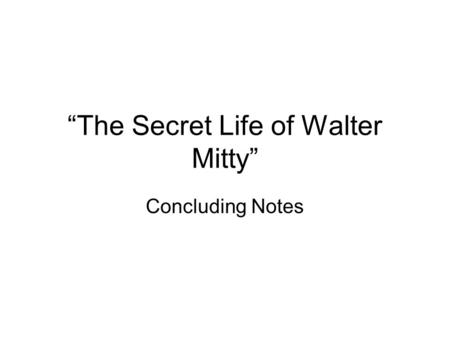 the secret life of walter mitty short story plot diagram