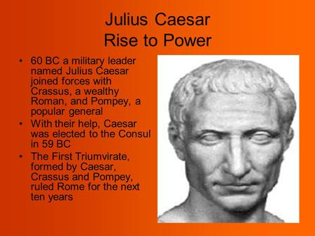 Julius Caesar Rise to Power
