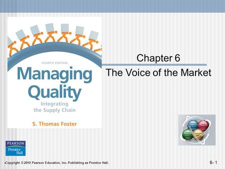 Copyright © 2010 Pearson Education, Inc. Publishing as Prentice Hall. 6- 1 Chapter 6 The Voice of the Market.