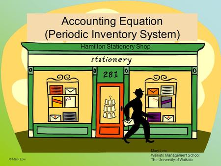 Accounting Equation (Periodic Inventory System)
