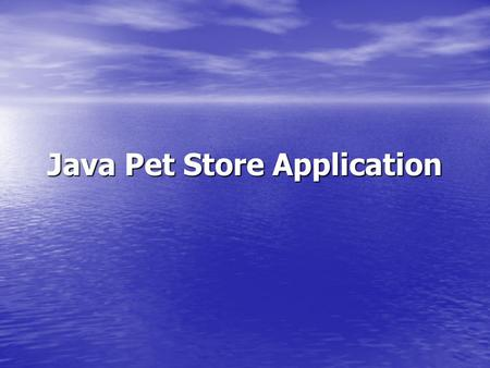 Java Pet Store Application. Outline Introduction Introduction Information Layer Information Layer Application Layer Application Layer Infrastructure Layer.
