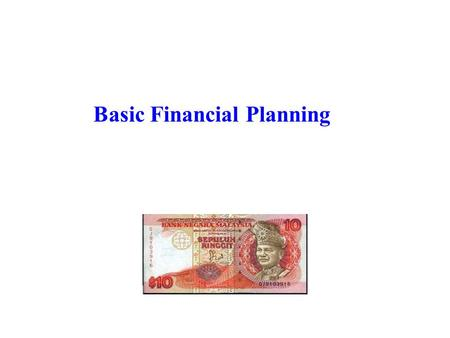 Basic Financial Planning