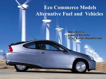 Alternative Fuel and Vehicles