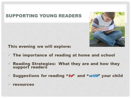 Supporting young Readers