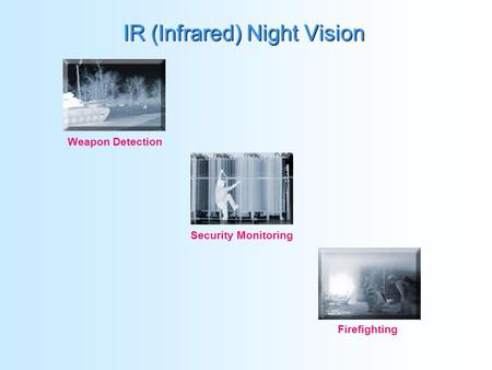 IR (Infrared) Night Vision Weapon Detection Security Monitoring Firefighting.