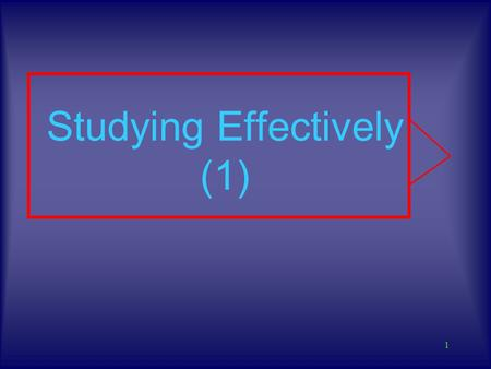 1 Studying Effectively (1) 2 Your Brain Is incredibily complex and capable It comes without an owners manual! Rarely are we told how it works, and how.