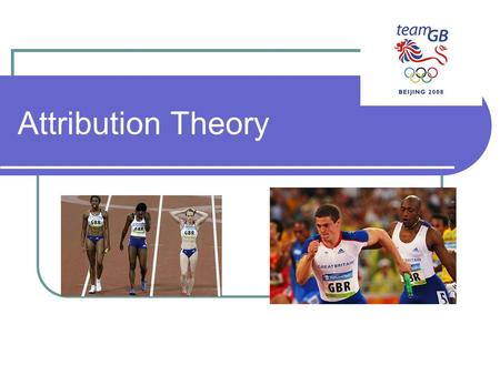 Attribution Theory.