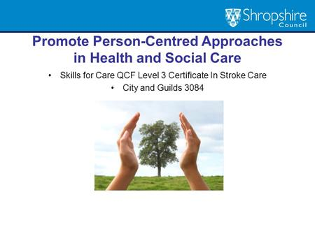 Promote Person-Centred Approaches in Health and Social Care