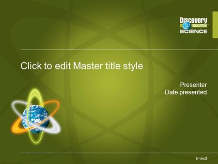 Presenter Date presented Click to edit Master title style.