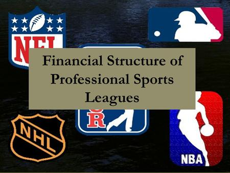 Financial Structure of Professional Sports Leagues