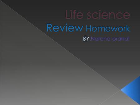 Life science Review Homework