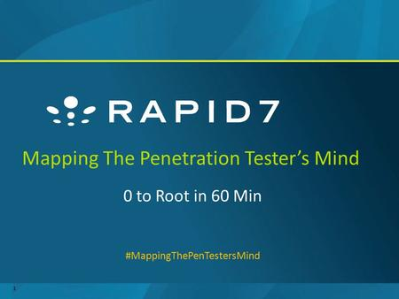 Mapping The Penetration Tester's Mind 0 to Root in 60 Min #MappingThePenTestersMind 1.