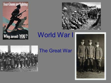 "World War I The Great War Causes of WWI in Europe Competition from imperialism. Arms (weapons) race ""militarism"" Defensive alliance system in Europe."
