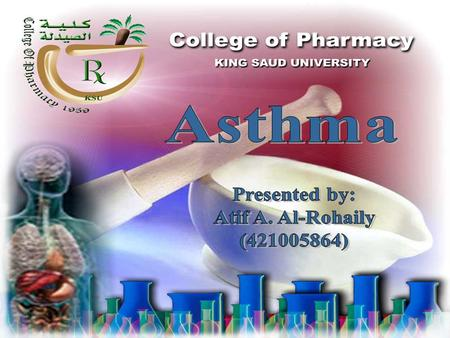 Asthma is a chronic inflammatory disease of the airways, characterized by coughing, wheezing, chest tightness, and difficult breathing.