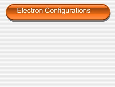 Electron Configurations. Electron Configuration Electron configuration – the ____________ of electrons in an atom.