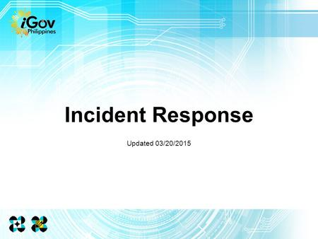 Incident Response Updated 03/20/2015