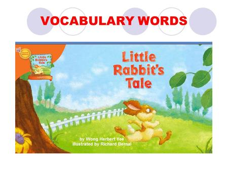 VOCABULARY WORDS. dear Oh, dear! The sky is falling!