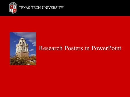 Research Posters in PowerPoint. 2 Download Notes
