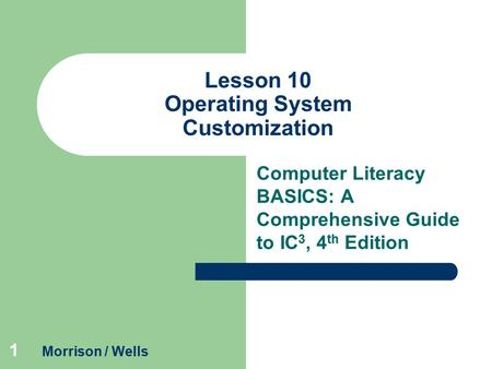 Lesson 10 Operating System Customization