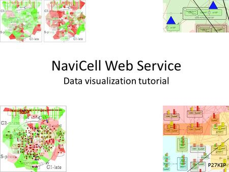 NaviCell Web Service Data visualization tutorial.