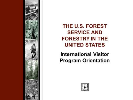 THE U.S. FOREST SERVICE AND FORESTRY IN THE UNITED STATES International Visitor Program Orientation.