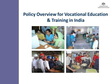 12.00 8.70 5.48 4.63 8.24 5.73 5.27 10.7012.200.50 3.41 Policy Overview for Vocational Education & Training <strong>in</strong> <strong>India</strong>.
