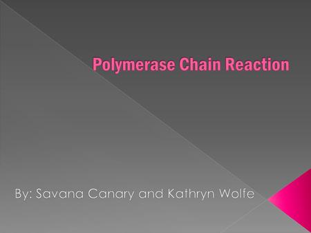 Polymerase Chain Reaction (PCR) is when you amplify the number of copies of a specific region of DNA, in order to produce enough DNA it be adequately.