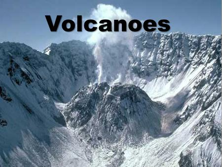 Volcanoes. A volcano is a mountian that forms when molten rock (magma) is forced to the earth's surface.