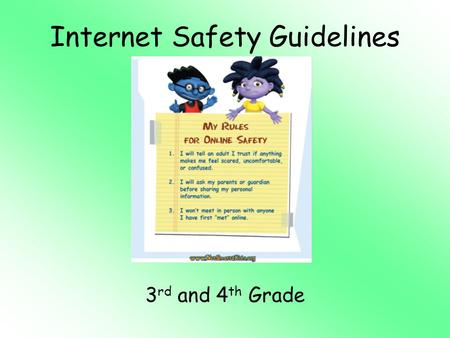 Internet Safety Guidelines