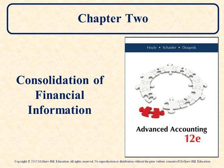 Consolidation of Financial Information