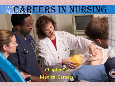 Careers in Nursing Chapter 14 Medical Careers. Key Terms Advocate: – one who represents the needs of the client Long-Term care facility: – Nursing home.