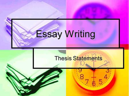Essay Writing Thesis Statements. Thesis Statement Your thesis statement should be a single sentence that contains: Your thesis statement should be a single.