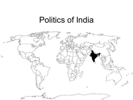 Politics of India. India 2nd most populous nation Population: over one billion Growing at 1.4% a year.