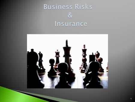 1.  Marketing Risk  Equipment Risk  Credit Risk  Inventory Risk  Government Risk  Miscellaneous Risks 2.
