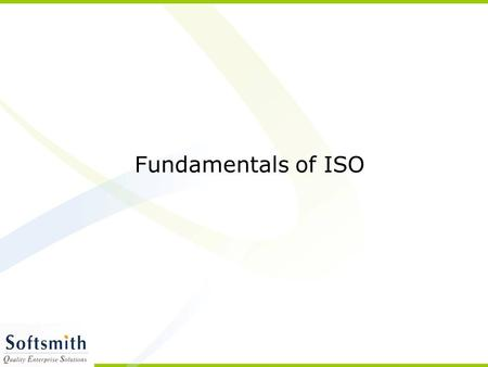 Fundamentals of ISO.