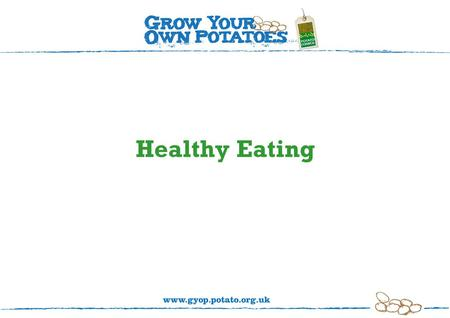 Healthy Eating. The eatwell plate To stay healthy we need to eat a balance and variety of foods.