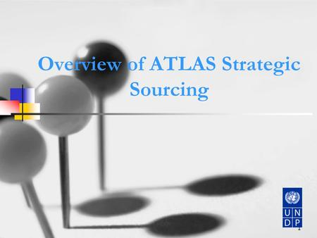 1 Overview of ATLAS Strategic Sourcing. 2 Strategic Sourcing: The existing supply chain in Atlas covers REQ and PO but does not cover all the activities.