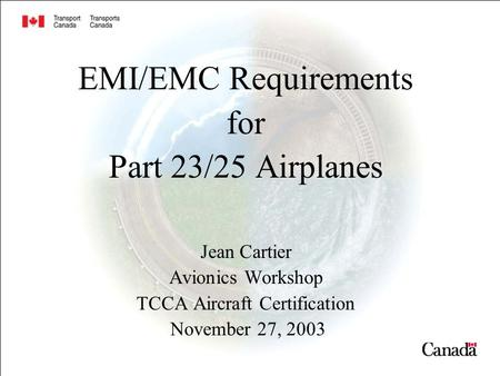 TCCA Aircraft Certification