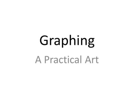 Graphing A Practical Art. Graphing Examples Categorical Variables.
